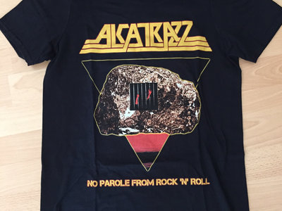 Alcatrazz - No Parole From Rock N Roll Retro 80's Shirt (Black - One Sided) main photo