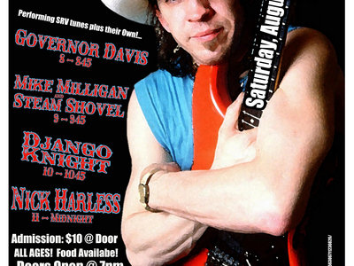Stevie Ray Vaughan Memorial Scholarship Fundraiser Concert Ticket main photo