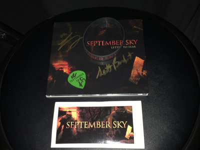 Letter To Fear Autographed Bundle - Signed CD, Pick, Sticker and Wristband main photo