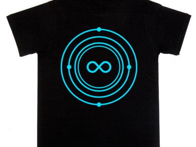 Infinite Machine T-Shirt / Blue Logo on Black main photo