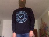 Infinite Machine Crewneck / Blue Logo on Black photo