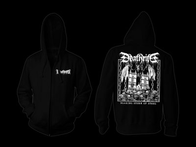"DEATHRITE - ""Blazing Storm Of Steel"" Zipper Hoodie main photo"
