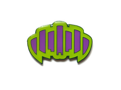Green/Purple Palindrome Pin (Glow in the Dark) main photo