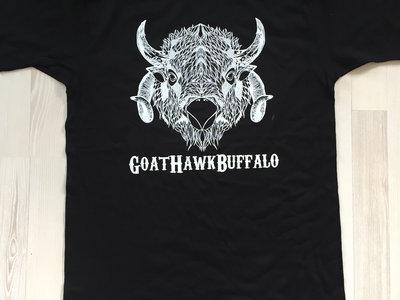 GoatHawkBuffalo Logo black t-shirt main photo