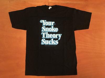 "Steele Wars ""Your Snoke Theory Sucks"" black t-shirt (approx $19 USD) main photo"