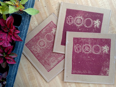 stitched, block printed CD main photo