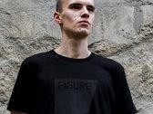 T-Shirt - The Square - Black on Black photo