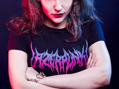 "LAZERPUNK! ""BLVCK METAL"" shirt main photo"
