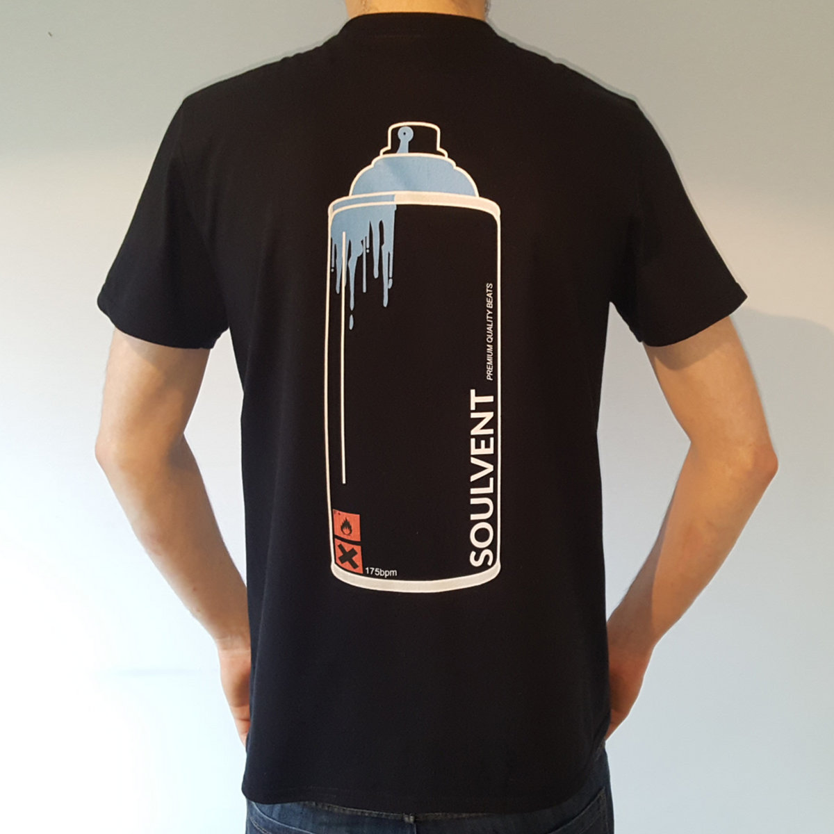 Spray Can Tee Front Back Print Main Photo