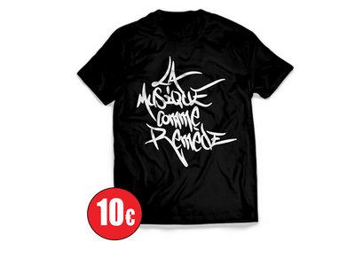 """T-Shirt """"La Musique Comme Remède"""" Noir main photo"""