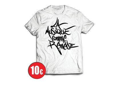 """T-Shirt """"La Musique Comme Remède"""" Blanc main photo"""