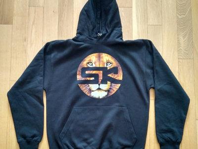 KnightWear - Black Hoody with Lion face 'SK' Logo main photo