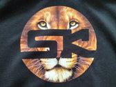KnightWear - Black Hoody with Lion face 'SK' Logo photo