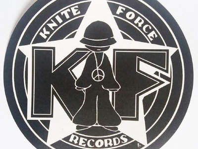 Large Black Kniteforce Logo Sticker main photo