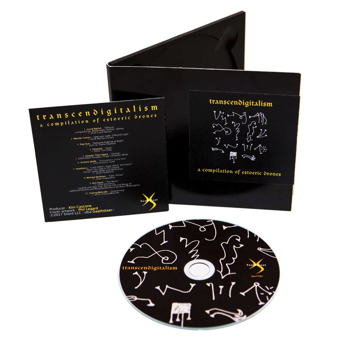 a collection of drone-based works conceived and recorded in altered states  of consciousness. Packaged in a black digiipak sealed with a sticker, ...