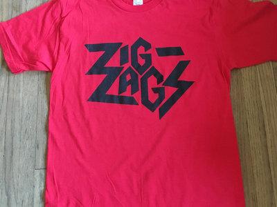 "Zig Zags Logo T-shirt  ""Red"" main photo"