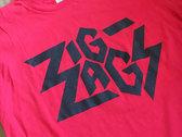 "Zig Zags Logo T-shirt  ""Red"" photo"