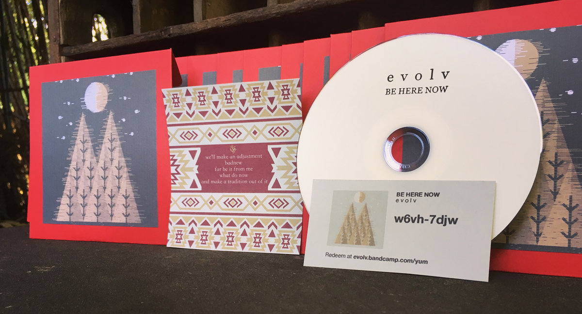 And make a tradition out of it e v o l v minimal rendition in red cardstock disc sleeve includes track listing business cards and digital download code includes unlimited streaming of be here reheart Image collections