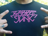 Rabbit Junk Metal AF T-Shirt (Hawt Pink Logo) photo
