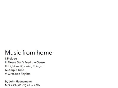 Music from home (Score and parts) main photo