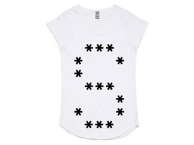 "Womens | Stars ""S"" T-shirt. Available in Black or White main photo"