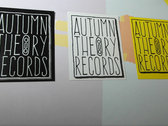 10-Pack Original Autumn Theory Records Stickers photo