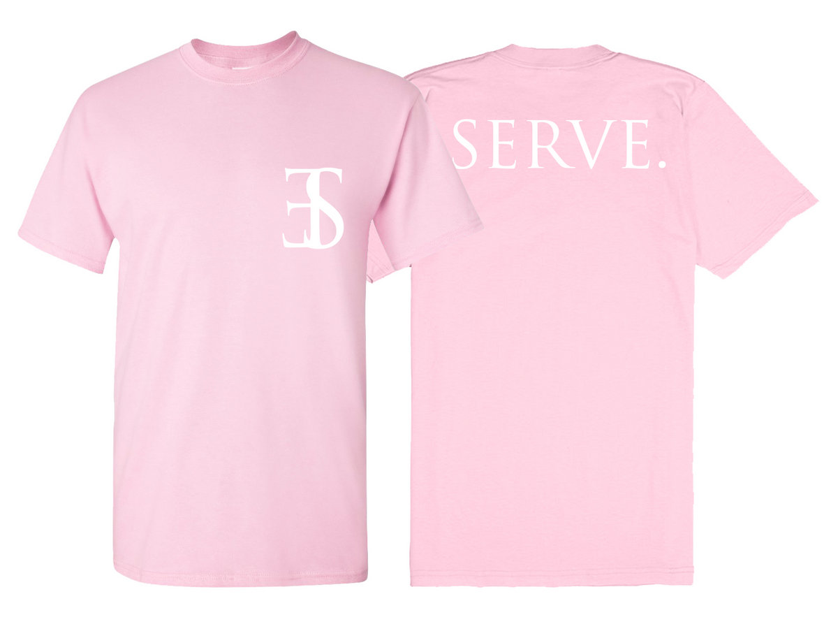 Serve logo shirt on baby pink/baby blue/sports grey | Employed To ...
