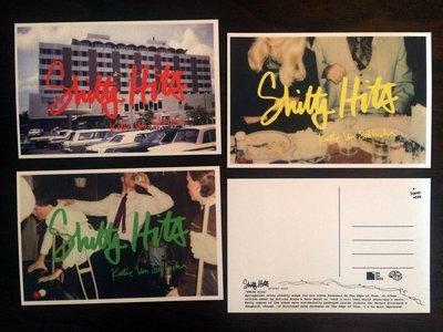 Set of 4 'Shitty Hits' Postcards main photo
