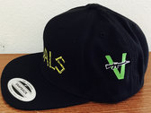 """Classic """"Vandals"""" Snapback Hat with V-Gun Side Embroidery photo"""