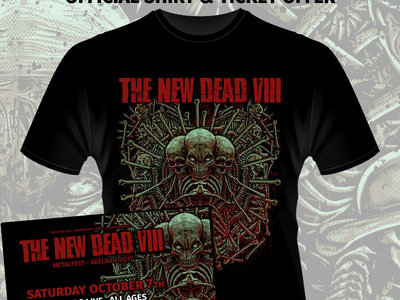 The New Dead #8 - Ticket and Shirt Package (Pick up at the event) main photo
