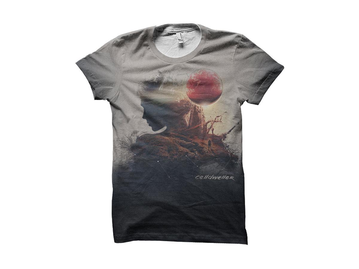 Celldweller Offworld Cut Sew All Over Print T Shirt Celldweller