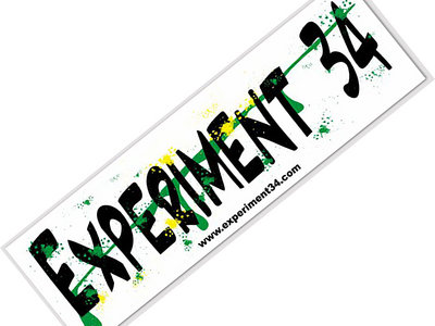 Experiment 34 Bumper Sticker (FREE w/ every purchase!) main photo