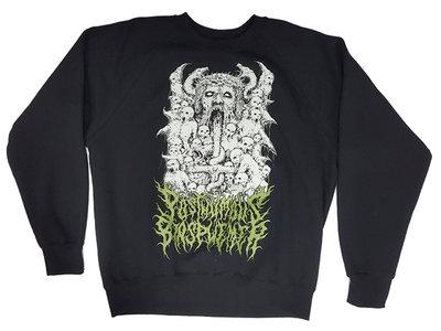 "Posthumous Blasphemer Black Sweatshirt ""Ash for Utopia"" Art/Slogan main photo"