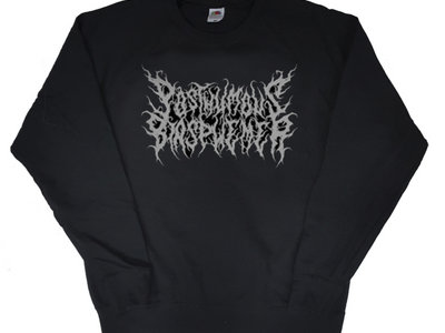 "Posthumous Blasphemer Black Sweatshirt ""Ash for Utopia"" Logo/Slogan main photo"