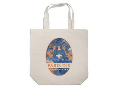 Wearplay EP#04 - Tropical Eiffel Tower - Tote Bag Made In France main photo