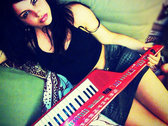 Helalyn Flowers's signed keytar + Your name on HF new album + goodies photo