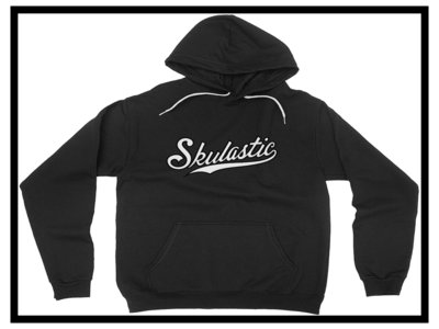 Skulastic Black Hoodie With White Strings main photo