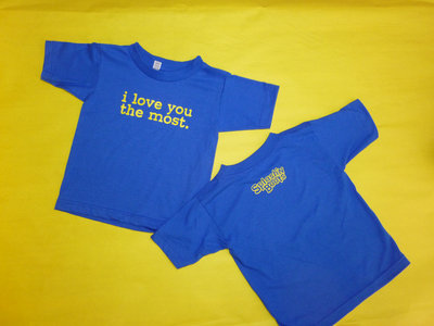 "New Blue T-shirt ""i love you the most"" main photo"
