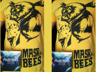 Bee Mask T-shirt and BETA album super mega combo hit. main photo