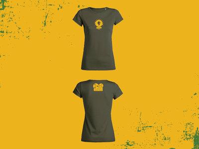 Lion's Den - 'fx out 100%' - T-Shirt - khaki - female cut main photo
