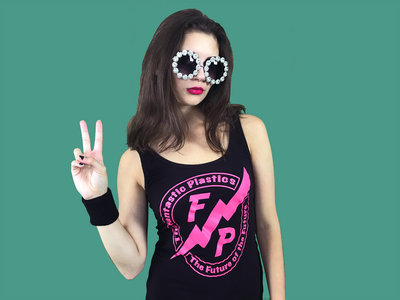 Ladies Black Tank with Pink Future Cadet Logo main photo