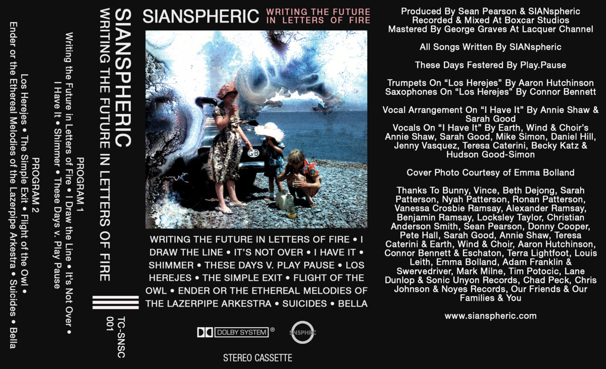 Writing The Future In Letters Of Fire Sianspheric