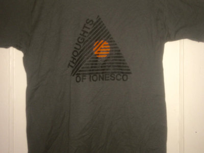 "Thoughts of Ionesco ""Lines"" grey shirt main photo"