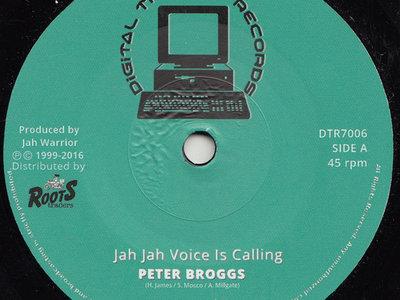 """Jah Jah Voice Is Calling"" Peter Broggs / Jah Warrior 7 inch vinyl main photo"