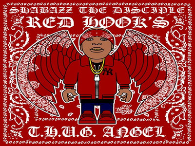 Shabazz The Disciple: Red Hook's T.H.U.G. Angel - 12' Inch Special Edition Custom Color Vinyl - Clear w/ Black Smoke & Yellow Splatter main photo