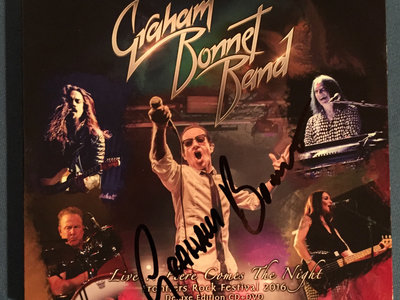 Graham Bonnet Band - Live...Here Comes The Night SIGNED CD/DVD main photo
