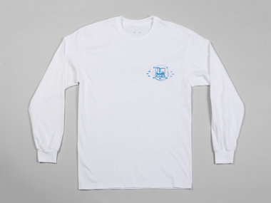 Numbers Fingerprints L/S T-Shirt (White/Blue) main photo
