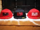 Sutter Kain Fitted Hat (Red Hat with Black Text) photo