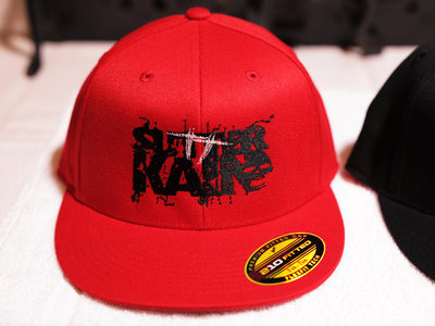 Sutter Kain Fitted Hat (Red Hat with Black Text) main photo