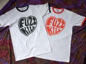 Fuzzkill heart logo ringer tee photo